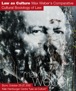 Max Weber's Comparative Cultural Sociology of Law